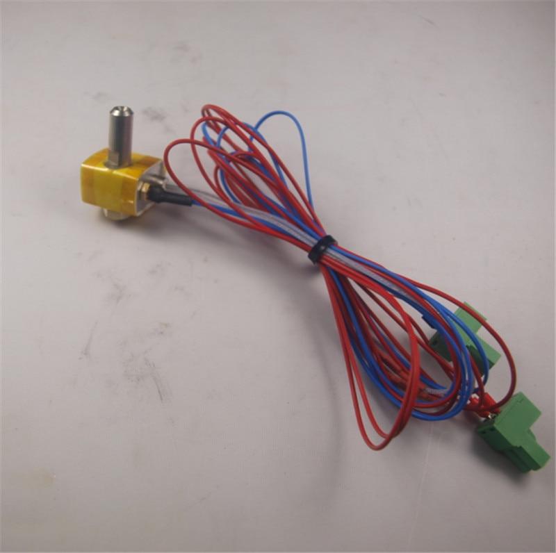 ФОТО Flashforge 3D Printer parts Creator MK10 hotend kit hater block+nozzle+Heat Break Barrel+heater cartridge+K type thermocouple