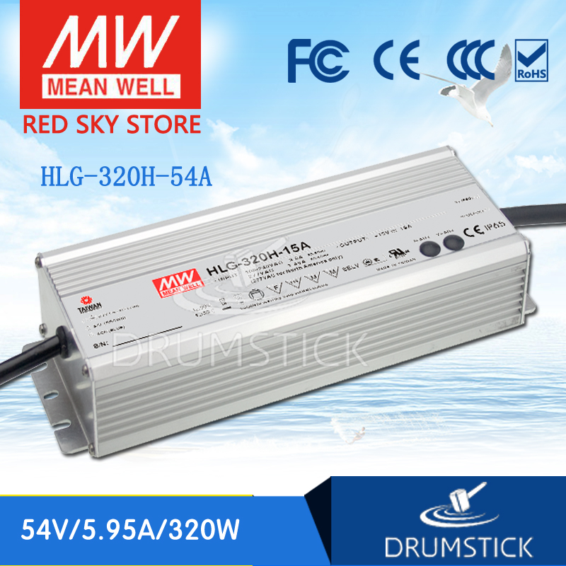 Genuine MEAN WELL HLG-320H-54A 54V 5.95A meanwell HLG-320H 54V 321.3W Single Output LED Driver Power Supply A type цена