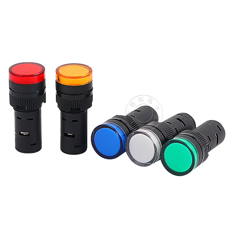 16 мм Источник питания Световой индикатор светильник AD16-16C светодиодный сигнал 24 В 220 В 380 В сигнальная Пилотная лампа красный желтый зеленый синий белый
