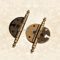 Hotsale 10PCS 3inch Retro Vintage Style Furniture Hinges European Antique Door Hinges Cupboard Cabinet Bronze Hinges