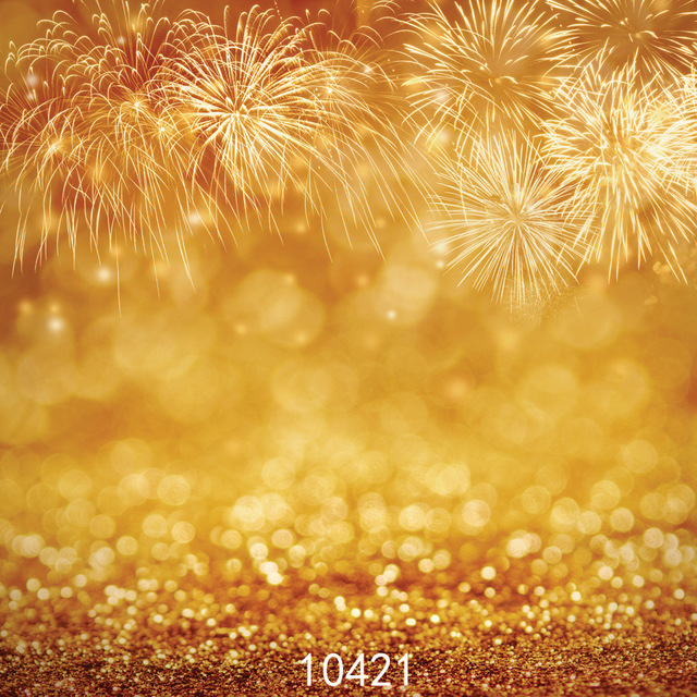 New Year Fireworks Photo Background Dream Background Vinyl