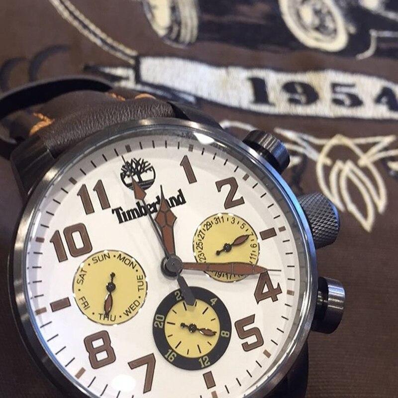 Timberland Original Mens Watches Top Brand Luxury Outdoor Sport Casual Quartz Leather Calendar Water Resistant Men Watch T14783 5