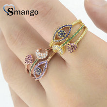 5 Pieces,Women Fashion Jewelry,The Rainbow Series Star and Moon Shape Rings,18KGold Plating Pave Setting CZ Rings, Ring