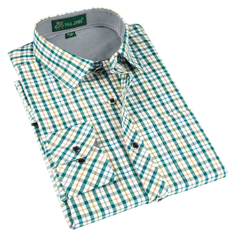 High Quality Men's Classic Leisure Style Plaid Shirts Brand Men's Boutique Clothing Casual Dress Shirts Comfortable Fabrics