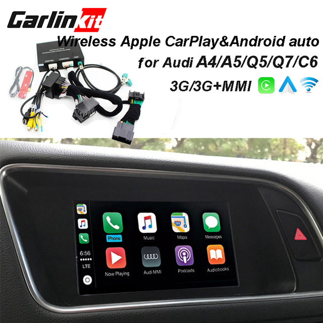 US $336 0 30% OFF|2019 Car Apple CarPlay Android Auto Wireless Decoder for  Audi A4 A5 Q5 C6 Q7 MMI Original Screen Reverse Image Retrofit Kit -in Car