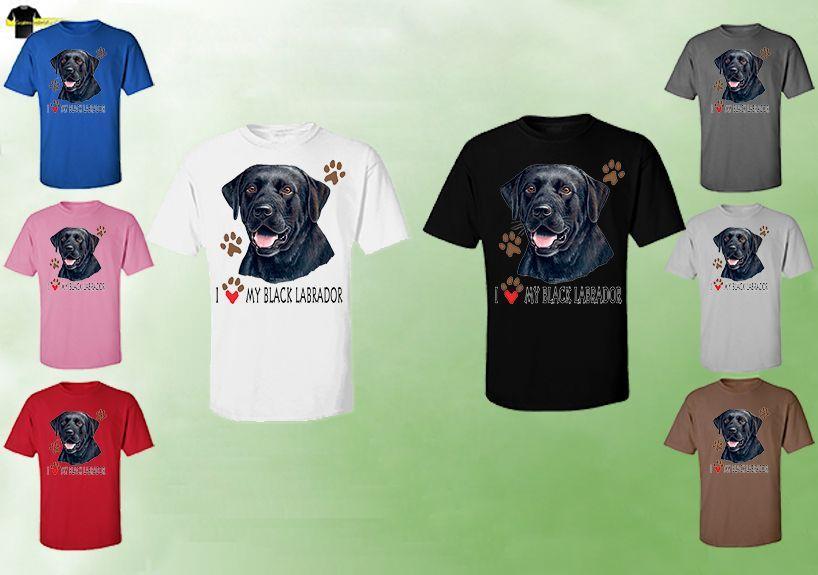 Unisex Black Labrador T-Shirts - Black Labrador Dog T-Shirt Dog Tee Cartoon T Shirt Men Unisex New Fashion Tshirt Free Shipping