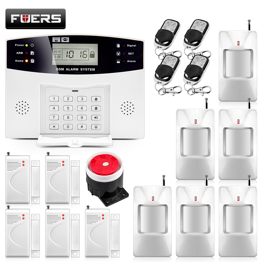 KERUI Russian/English Spanish French GSM SIM alarm systems security home LCD Display 110dB alarmas de seguridad para casa(China)