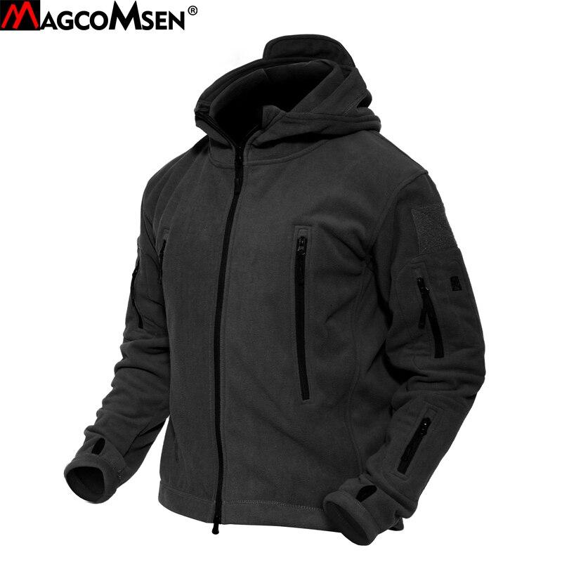 Erkek Kıyafeti'ten Ceketler'de MAGCOMSEN Erkekler Ceketler Kış Sıcak Polar Ceketler Ordu Askeri Taktik Ceket ve Ceket Termal Dış Giyim Giyim Adam YCIDL 001 2'da  Grup 1