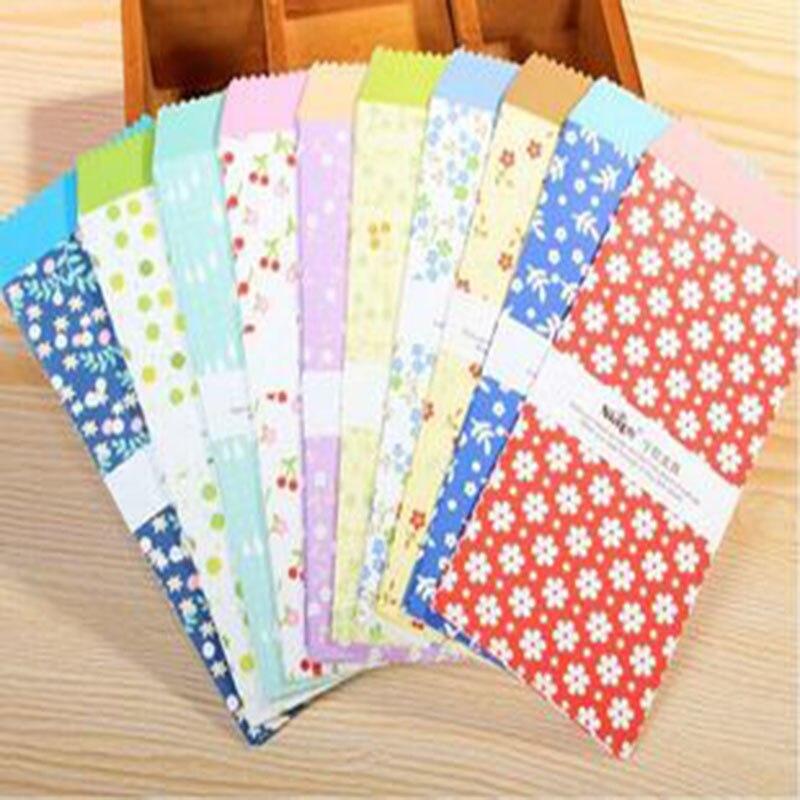 5pcs Flower Paper Envelope School Office Student Envelope Kawaii Gift Envelope Multi Function Letter Package Korea Stationery