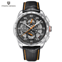 PAGANI DESIGN Waterproof Leather Quartz Skeleton Watches Luxury Brand Sports Chronograph Men's Watches Relogios Masculino saat