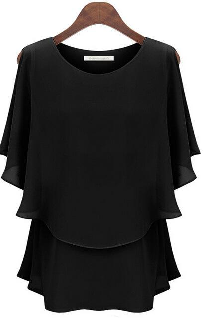 2017 New Wear Women Shirt Chiffon Tops Elegant Ladies Formal Blouse Plus Size 5XL Female Shirt Plus Size Formal Tops Blouses