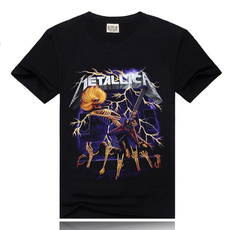 e1cfd598fe0a Punk 3D hombres roca La Nación 100% algodón o-cuello púrpura para hombre  nueva camiseta de moda marca de los hombres ocasionales verano camisas