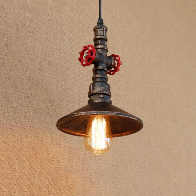 Industry retro loft pendant lamps water pipe iron lamps dining room bar pub club restaurant cafe chandelier pendant lamp nordic retro loft lamps clain necklace lights cafe restaurant bar pub living room dining room club pub aisle stair hall lamp