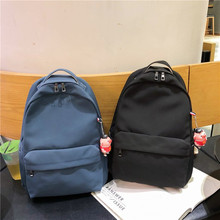 Solid Backpack Unisex Water proof Nylon Leisure Or Travel Bag Brand High Quality Large Capacity School Bag Fresh Package Women цена 2017