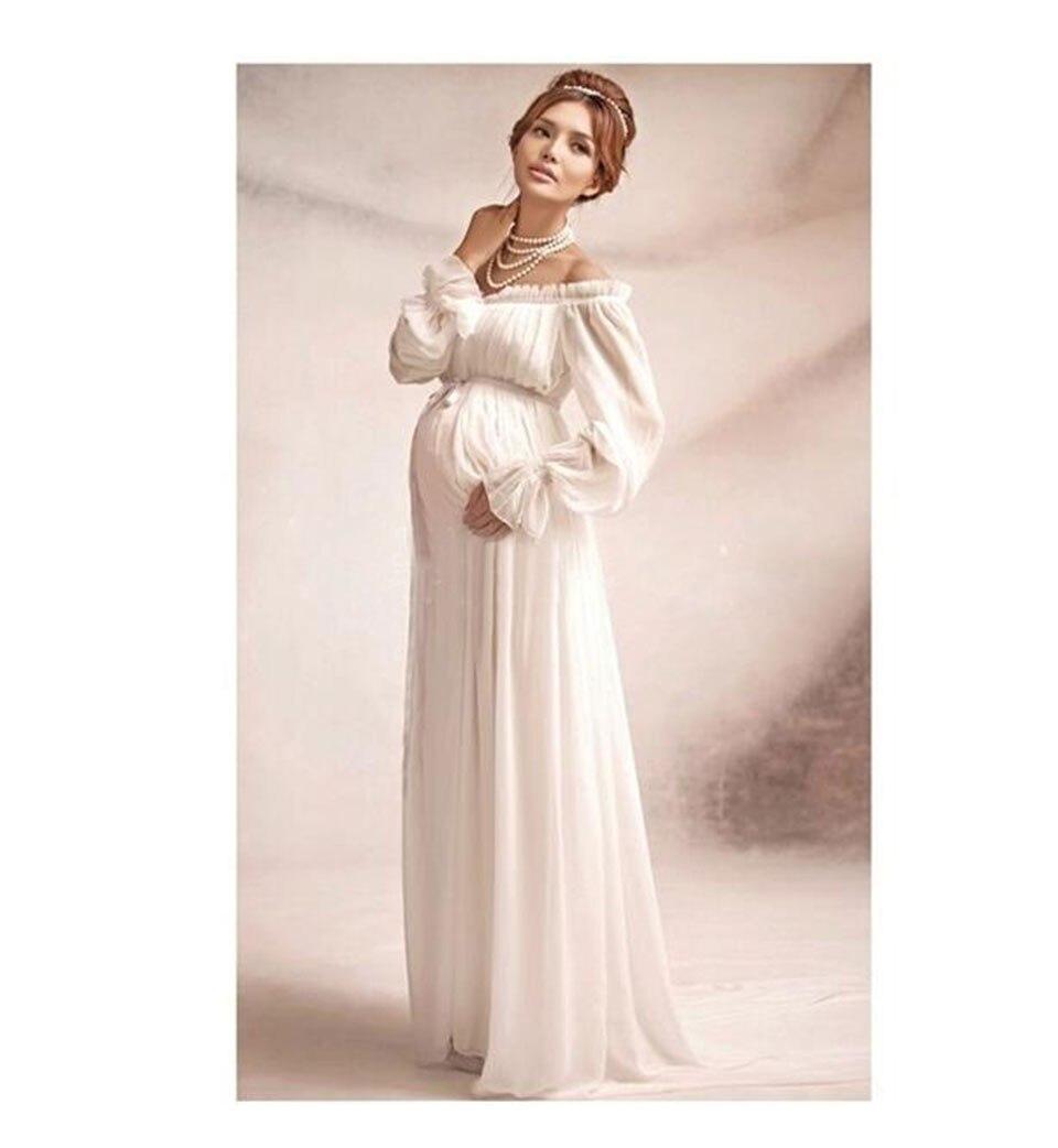 أنيقة الرباط اللباس الأمومة التصوير الدعائم فستان طويل ملابس حمل الحمل الخيال صور التصوير دعامة hamile elbise