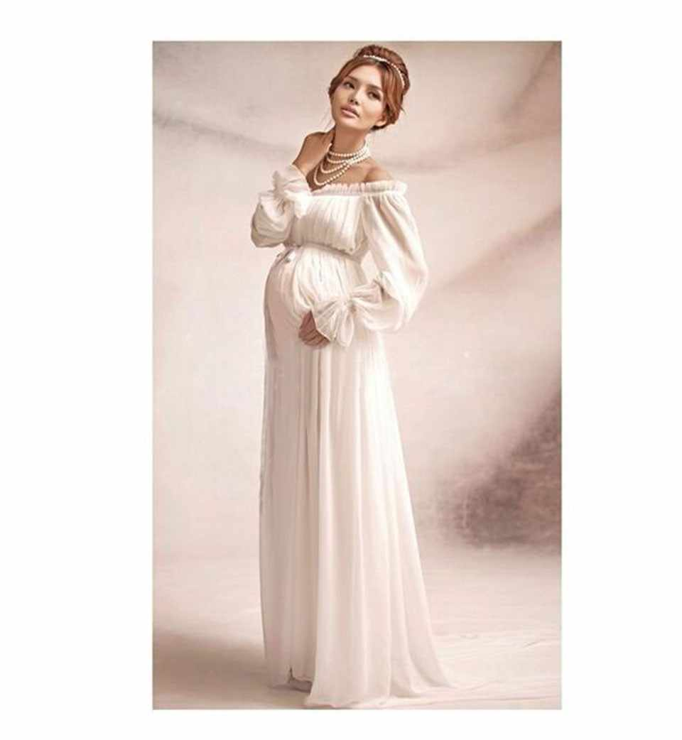 Vestido de renda elegante fotografia maternidade adereços vestido longo roupas de maternidade gravidez fantasia foto shoot adereços hamile elbise