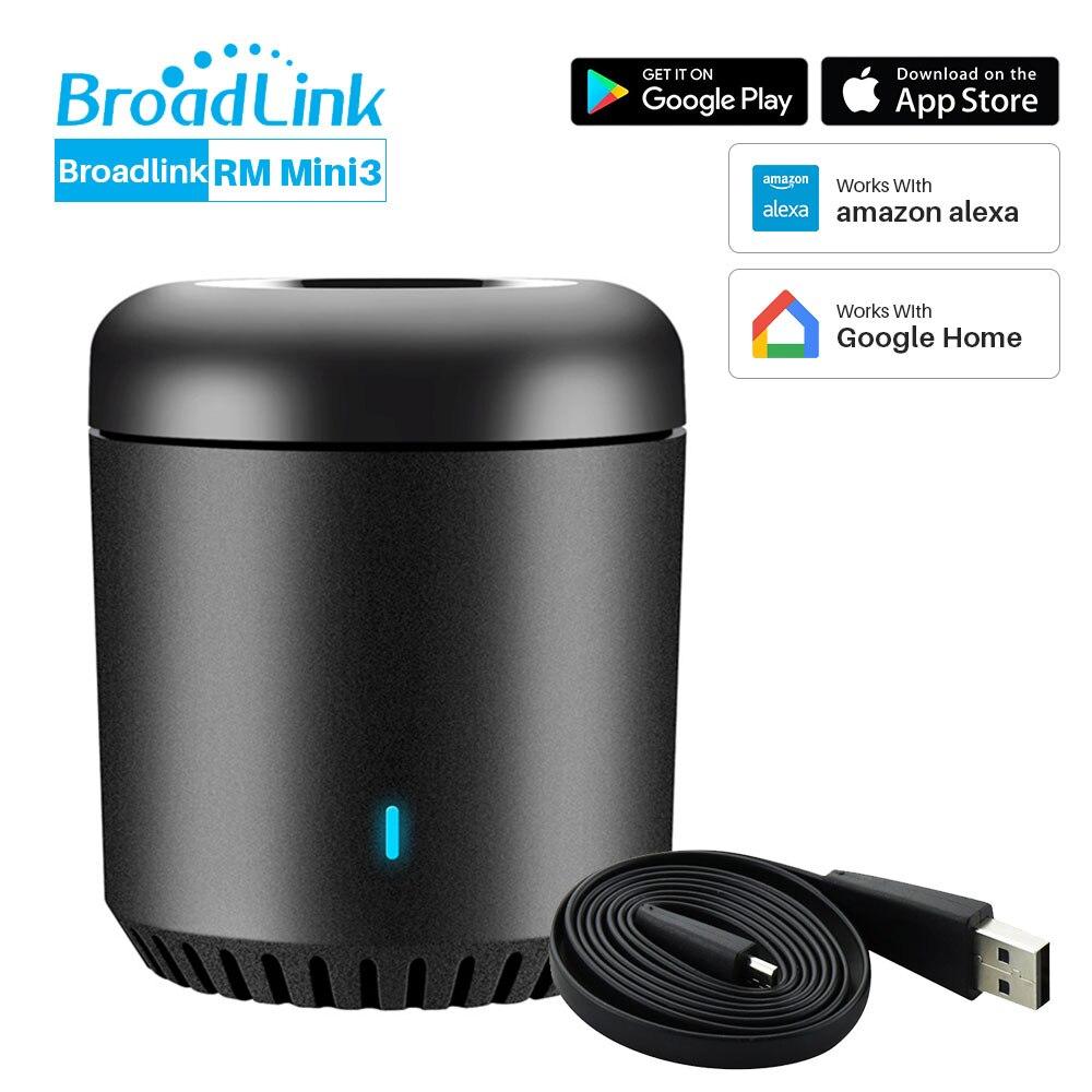 Broadlink RM Mini 3 Wi-fi Universal 4G IR Controlador Via APP Controle Remoto Casa Inteligente Funciona Com Alexa Echo inicial do Google Mini