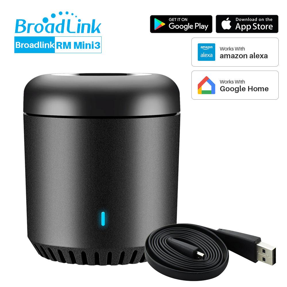 Control remoto RM Broadlink Mini 3 Universal WiFi 4G controlador remoto IR a través de la aplicación de Control inteligente casa trabaja con Alexa eco google Mini