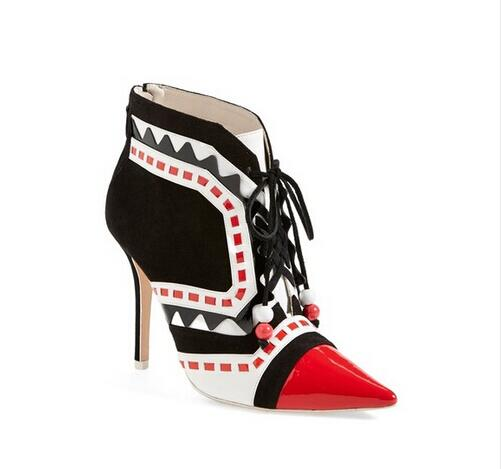Gladiator Newest Fashion Women Shoes Cheap Price Hot Selling New Designer Ankle Mixed Color Pointed Toe Beading Lace-Up National women sandals newest fashion cheap price best quality hot selling new designer luxury special noble ankle buckle mixed color