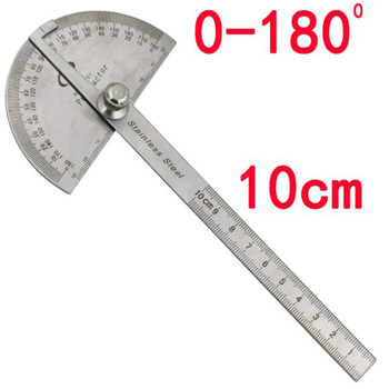 Metal Ruler 10cm Patchwork Straight for Student 180 Protractor Stainless Steel Drawing Template Tool School Stationery New - discount item  39% OFF Drafting Supplies