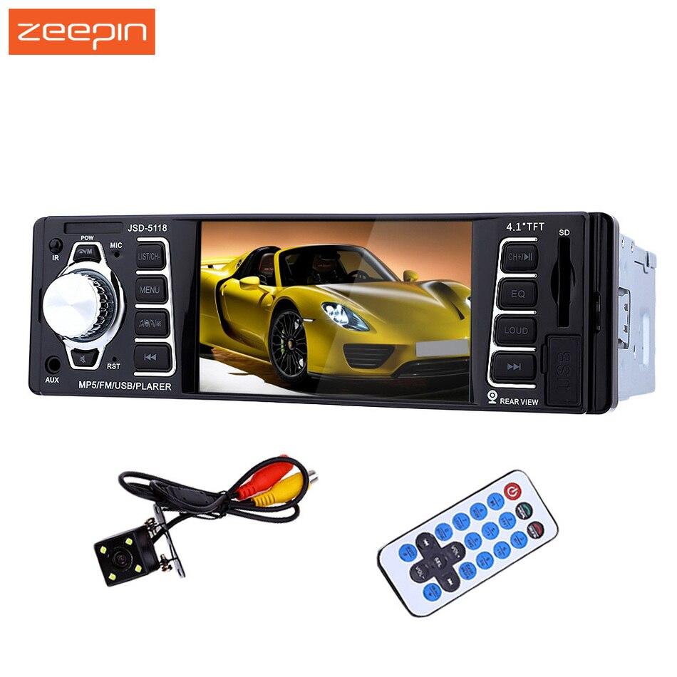 4.1 ''12 V Bluetooth voiture stéréo 7020G FM autoradio MP3 lecteur Audio dans le tableau de bord Support téléphone USB/SD caméra est disponible