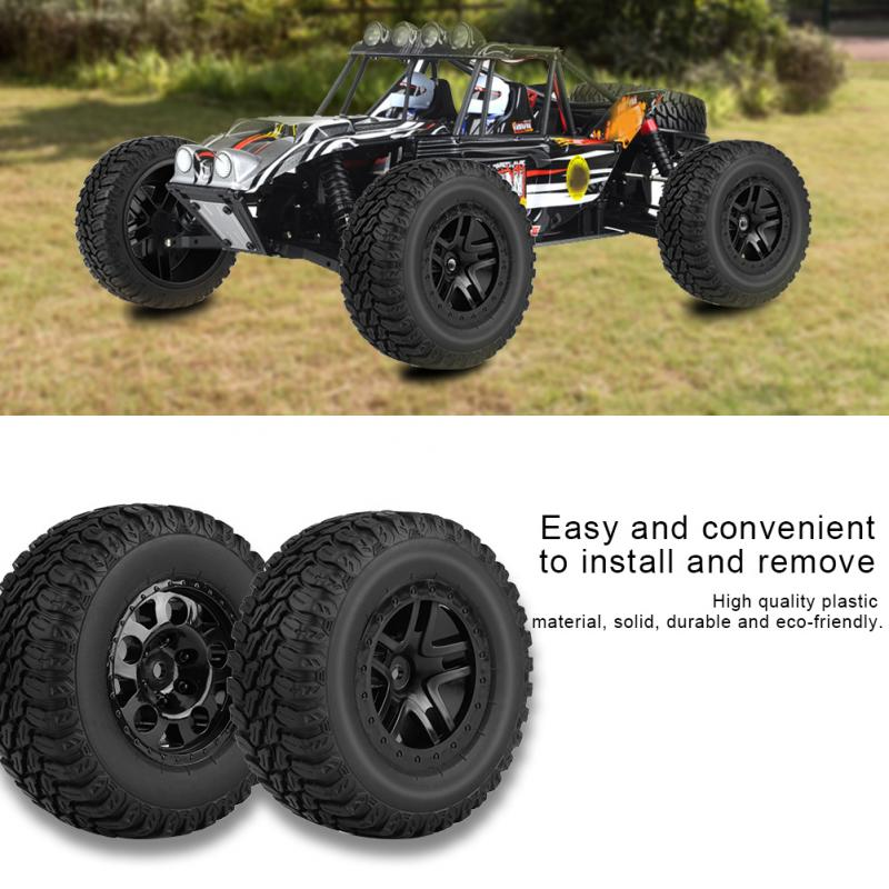 4Pcs/Set RC Tires Tyres + Plastic Wheel Rim Hubs Anti-skid Surface For HSP HPI TAMIYA KYOSHO TRAXXAX 1:10 RC Short Course Trucks 4pcs rc monster truck wheel rim tires kit for 1 10 traxxas tamiya hsp hpi kyosho rc trucks car rubber tyre parts