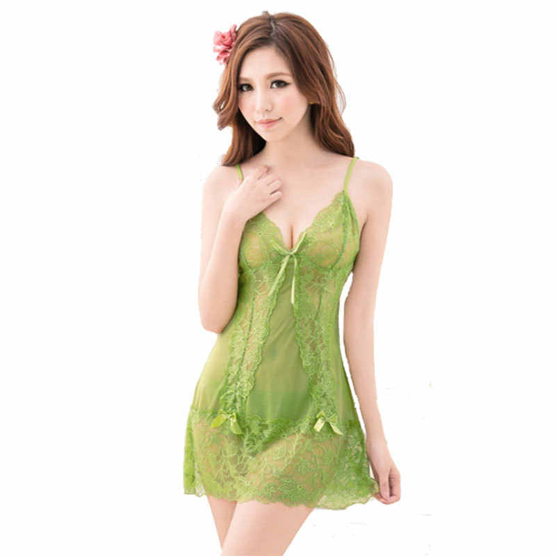 676af35791e ... CR New Women s Sexy Lace Nightgowns Fashion Sleepwear Hallow Out Slip Sleeping  Dress Wholesales