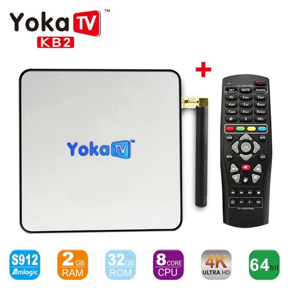 Yokatv KB2 S912 Octa core Android TV Box Amlogic 2 GB 32 GB Android 6.0 Unidades