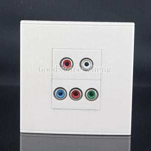 Настенная Лицевая панель 5 портов RCA AV + RGB Разъем Ассорти панель Лицевая панель HD TV