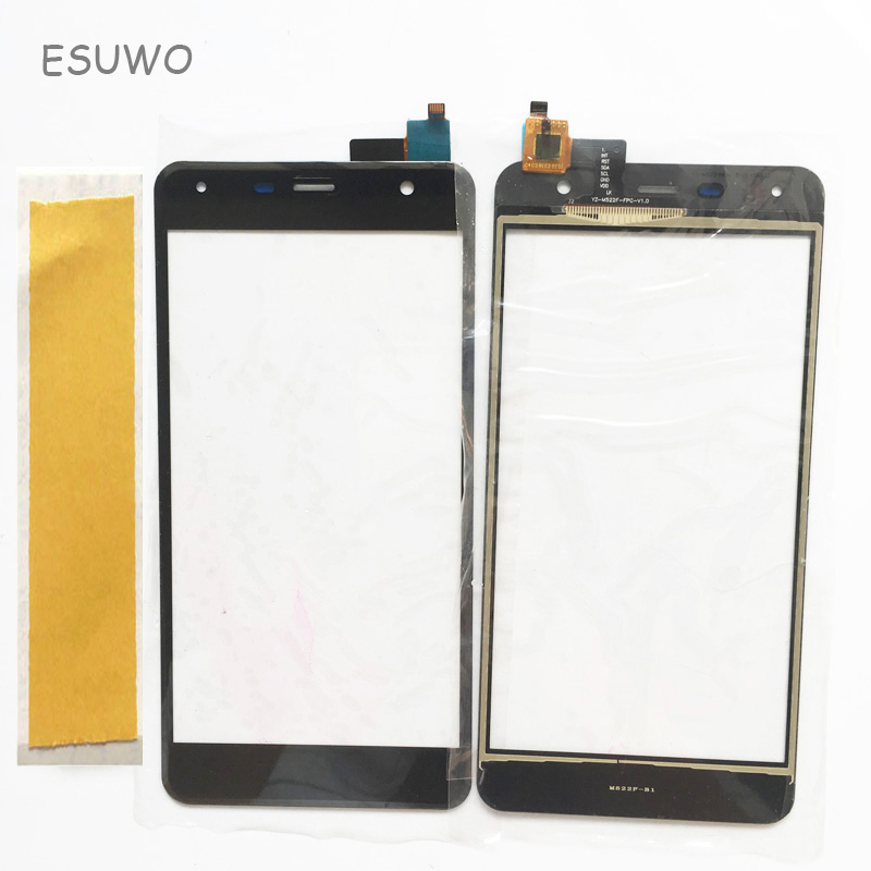 ESUWO New Sensor <font><b>Touch</b></font> Screen For Fly <font><b>FS517</b></font> FS 517 Touchscreen Digitizer Front Glass Lens Replacement image