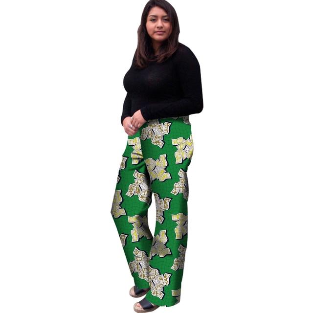 African Women Straight Pants Fashion Dashiki Clothes African Print Batik  Loose Long Pants Lady Ankara Trousers Africa Clothing 572421486d