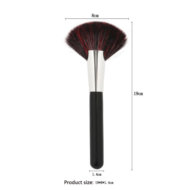 Best Deal Large Fan Shape Goat Hair Makeup Blush Brush Power Foundation  Blending Beauty Cosmetic Blush High Quality Daily Pro-in Makeup Brushes &