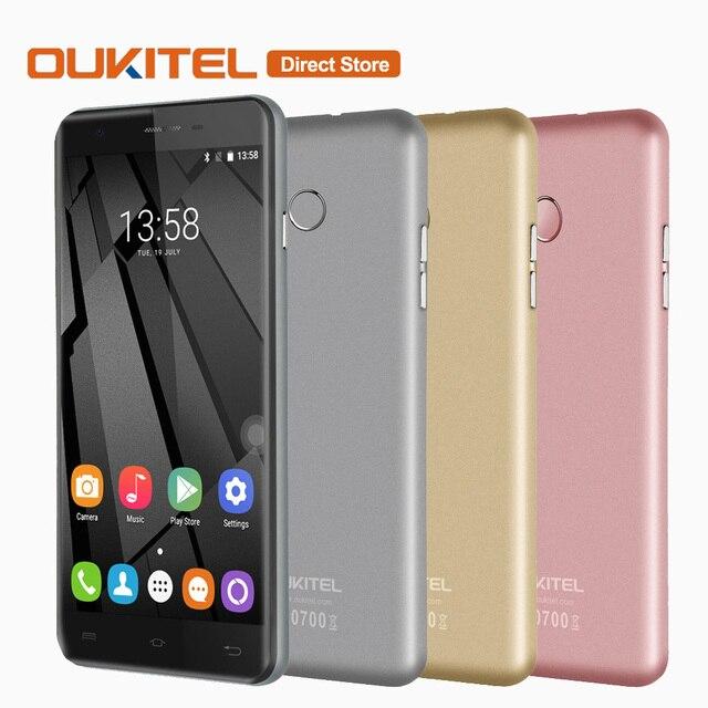Original OUKITEL U7 Plus 4G Smartphone Android 6.0 MTK6737 Quad Core Cell Phone 2GB+16GB 13.0MP Fingerprint 5.5inch Mobile Phone