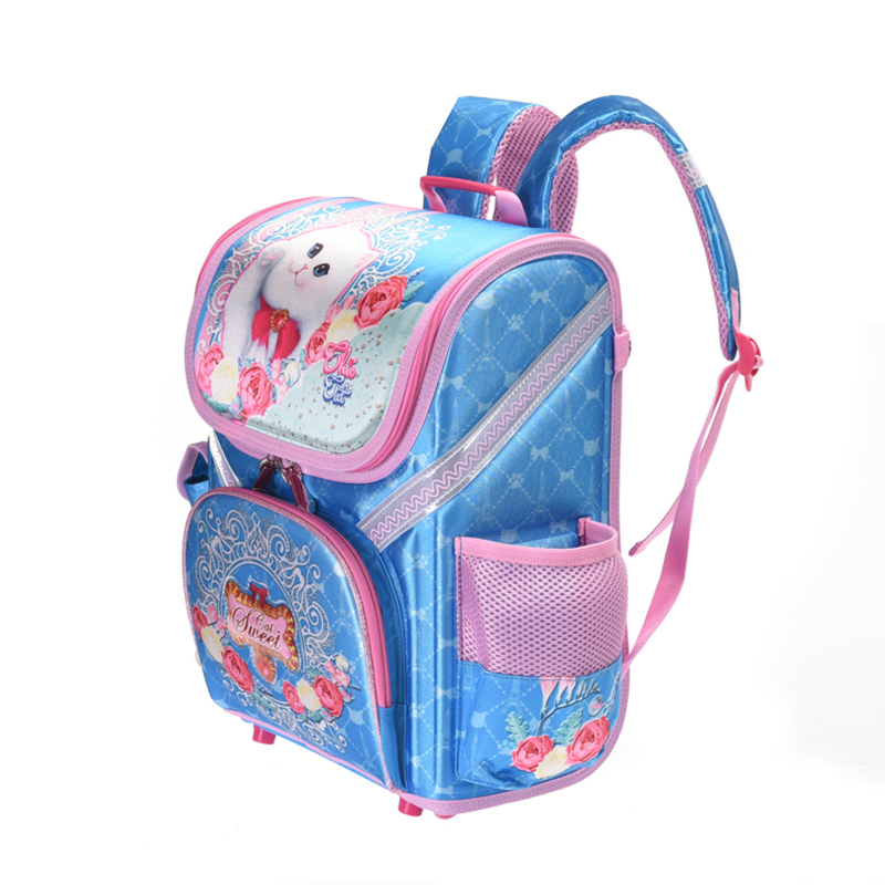 5b1c1fc3c54b Wenjie brother 2018 New Kids cat butterfly School bag EVA Folded Orthopedic  Children boy and girls backpack Mochila Infantil-in School Bags from  Luggage ...