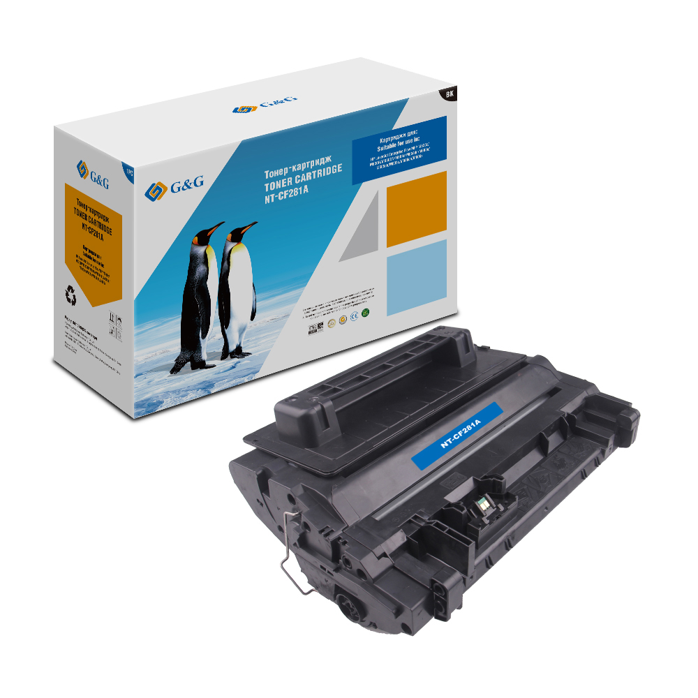 Computer Office Office Electronics Printer Supplies Ink Cartridges G&G NT-CF281A for HP LaserJet Enterprise Flow MFP M604/605