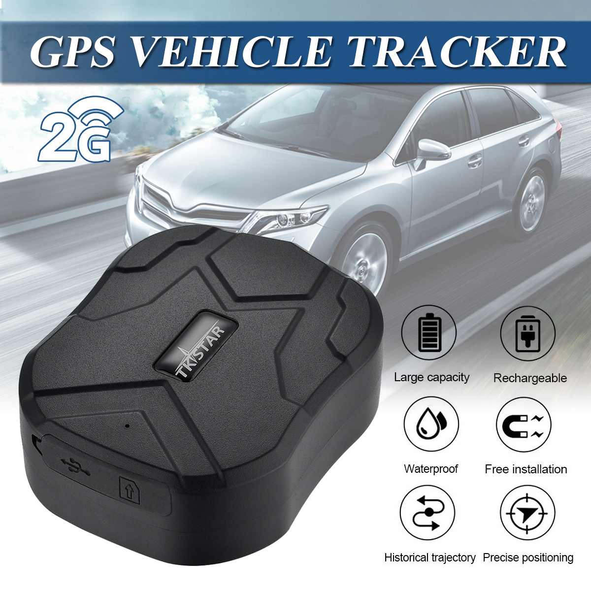 1 pièces De Voiture Gps tracker 5000 mAh Batterie De Secours 270 jours Dispositif De Suivi De Véhicule GSM/GPS Double Localisateur Étanche Aimant tracker