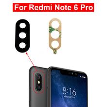 2pcs For Xiaomi Redmi Note 6 Pro Camera Glass Lens Back Rear Camera Glass Lens with Glue Replacement Repair Spare Parts 6.26 drive ksm 440aem optical lens repair parts assembly gaming spare durable console accessory compatible useful replacement for ps1