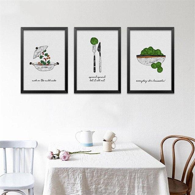 Modern Minimalist Restaurant Decorative Painting Art Canvas Poster ...