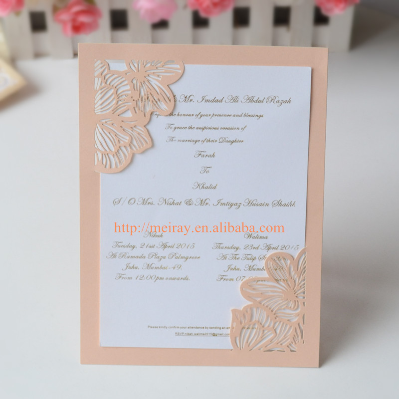 Us 46 0 Holiday Invitation Cards Fuzzy Peach Wedding Thank You Lot Personalized In Invitations From Home Garden On Aliexpress