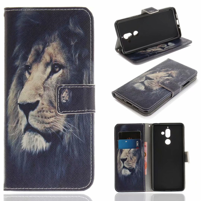 Flip Cover Stand For Nokia 7 Plus Case Leather Phone Bags <font><b>Sexy</b></font> <font><b>girl</b></font> Cartoon letters Animal Skin Fundas Coque image