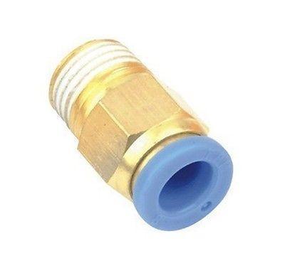 10pcs Pneumatic 12mm-1/4 BSPT Threaded Male Connectors brass pneumatic pipe 1 4 bspt to 1 4 bspt male thread m m equal union hex nipple