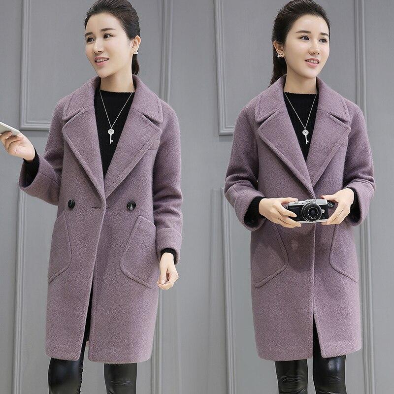 Tnlnzhyn Femmes 2018 E39 Veste Manteau Laine khaki Grandes D'hiver Purple Chaud Revers Poches Mode Nouvelles Automne De Et Survêtement HRxwIrFZqH