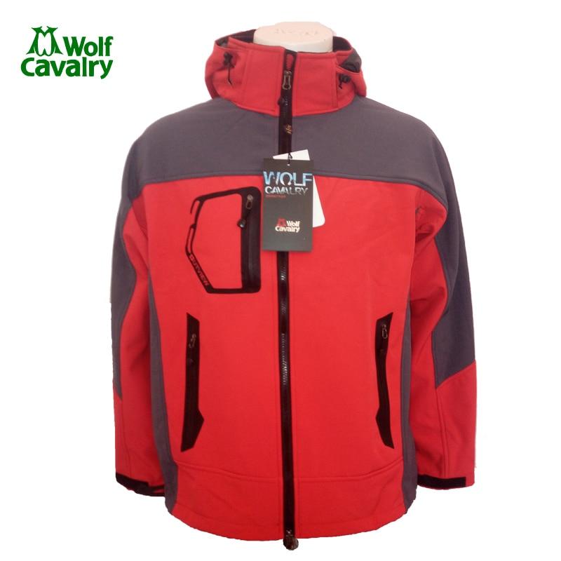 CavalryWolf  Men Winter Waterproof Softshell Jackets Hiking Camping Ski Warm  jacket