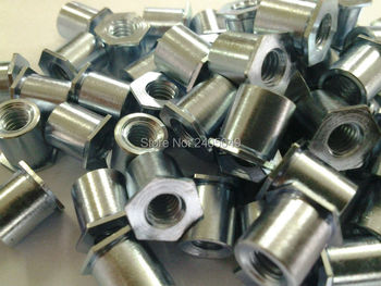 SOA-M6-8 Thru-hole threaded  standoffs,   aluminum 6061, Nature ,PEM standard,in stock, Made in china,