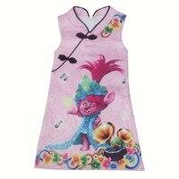 Z Y 3 8Years Beautiful Chinese Cheongsam Dress Party Trolls Dress Robe Enfant Fille Prinsessenjurken Meisjes