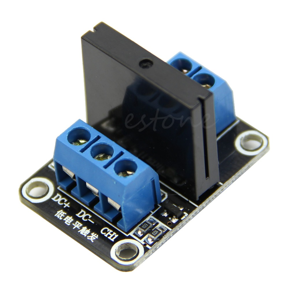 5V 1 Channel Solid-State Relay module Low Level Trigger 2A for arduino New 8 channel 5a high level trigger solid state relay module board 3 32v power supply and trigger voltage
