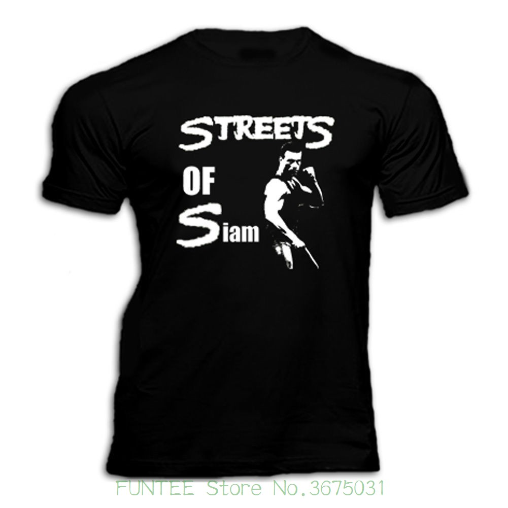 New Man Design T-shirt Print Van Damme Bloodsport Kickboxer Streets Of Siam 80s Movie T Shirt