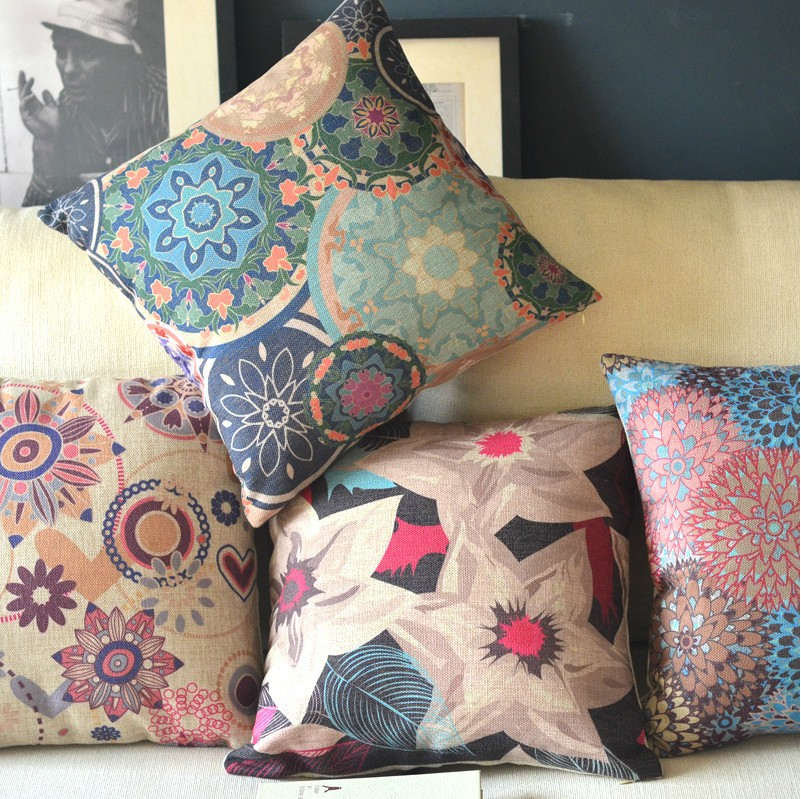 Home Decor Cushions outdoor set of decorative pillows and cushions Flower Garden American Retro Fresh Ideas Cotton Cushion Pillow Pillow Cushion Home Decor Sofa Cushions