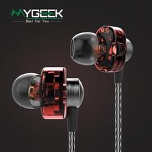 MyGeek Profesional 3.5 MM en la oreja los auriculares auriculares de Alta Fidelidad Estéreo Deporte Separar de Aislamiento de Ruido Auriculares con 4 conductores en el interior