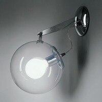 2020 Fashion Bubble Glass Wall Sconce Nordic Brief Glass Magic Globe Ball Wall Light Bed Room Aisle Office Loft art Wall Lamp